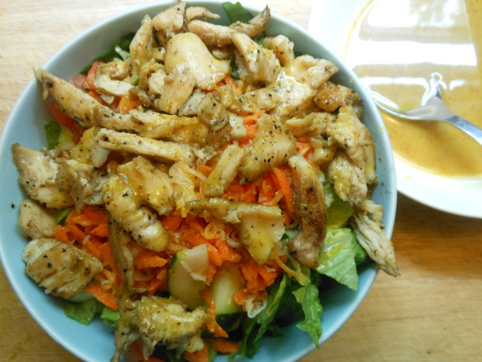 simple salad using leftover chicken