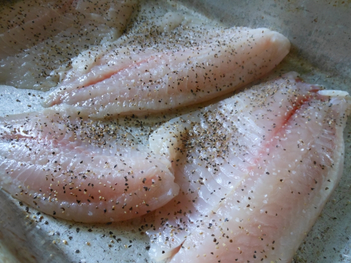 tilapia with salt and pepper
