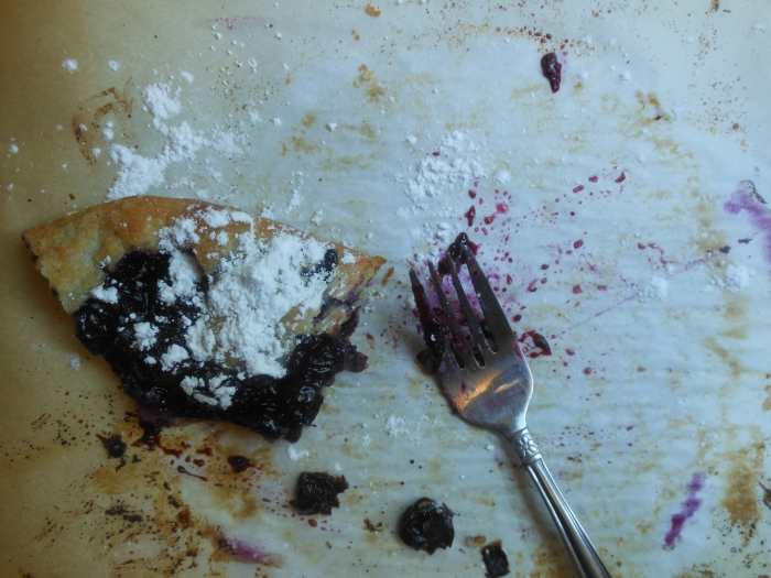 rustic blueberry tart... devoured