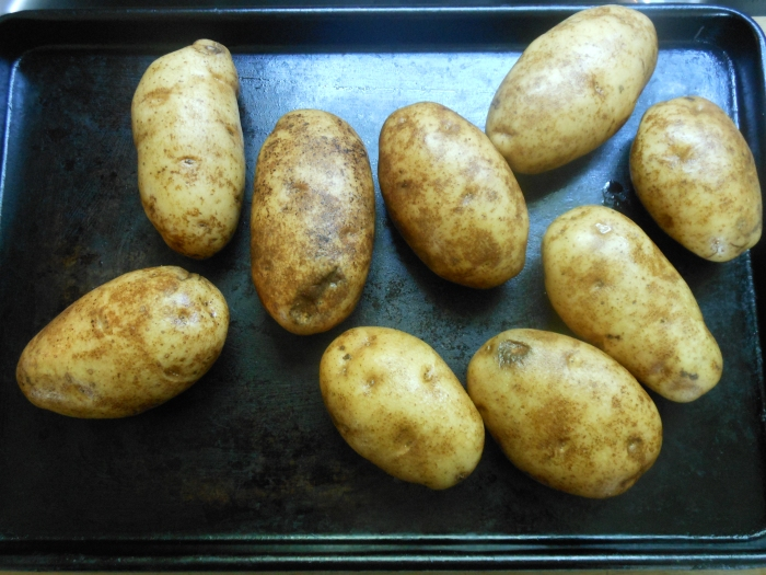 bake the potatoes